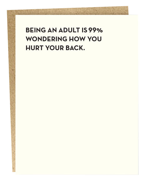 Adult Hurt Back