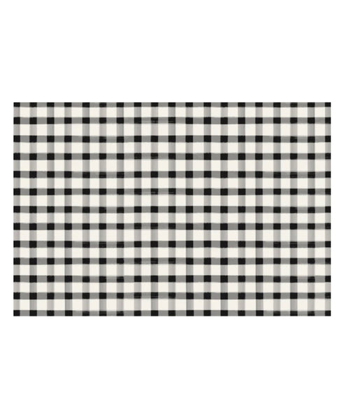 Black Check Placemat