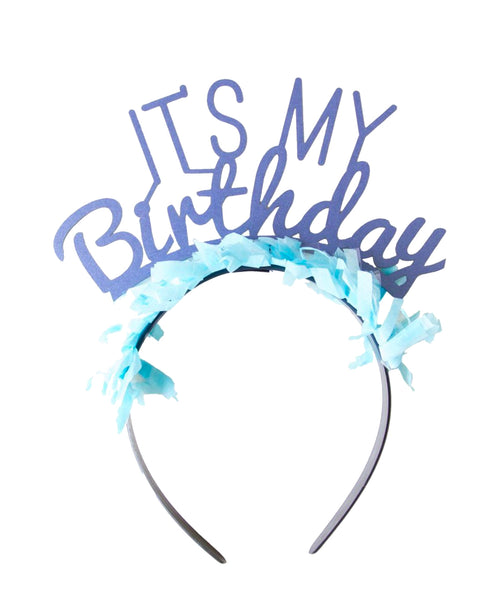 It's My Birthday Blue Headband