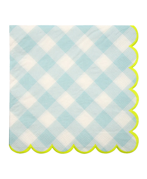 Gingham Napkins - Blue