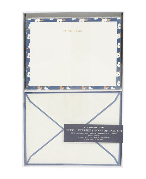 Blue Classic Thank You Card Set
