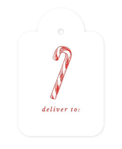 Exclusive Candy Cane Gift Tags