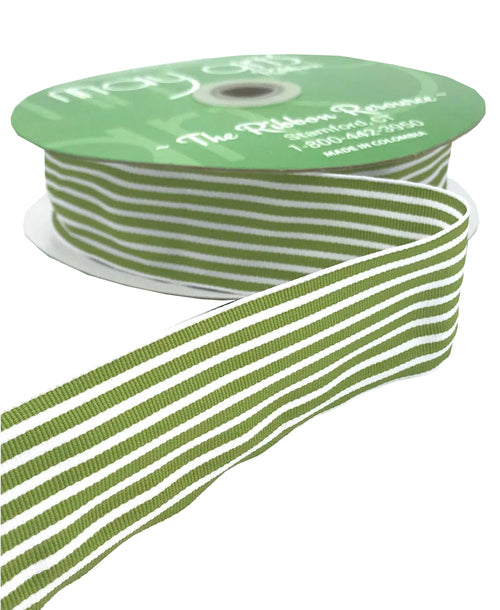 Celery Striped Ribbon