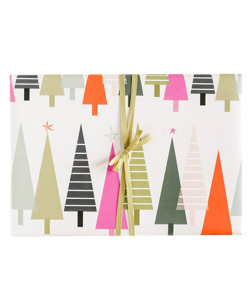 Colorful Trees Gift Wrap