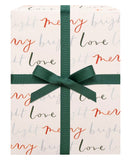 Hand Lettered Holiday Gift Wrap