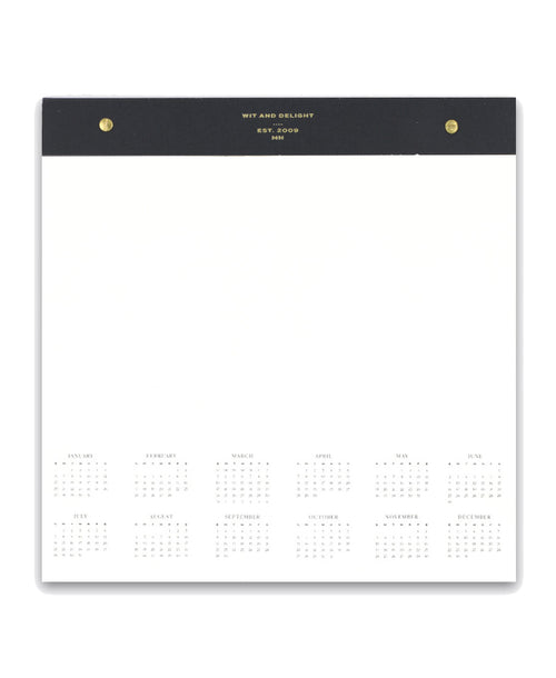 Desktop Notepad with 2019 Calendar