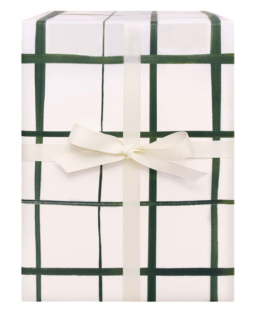 Emerald Grid Gift Wrap