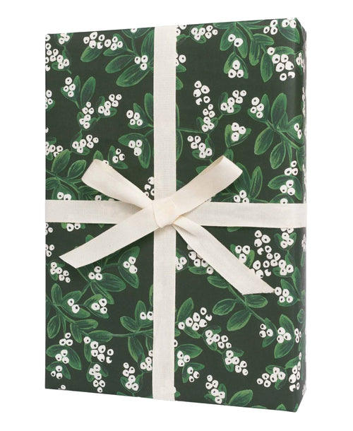 Evergreen Mistletoe Gift Wrap