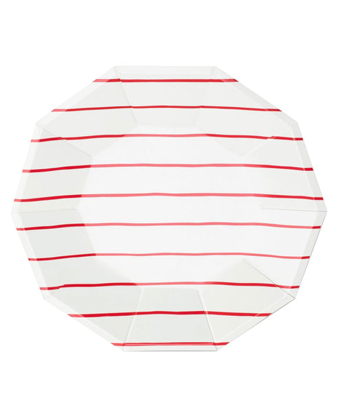 Frenchie Large Plates - Red
