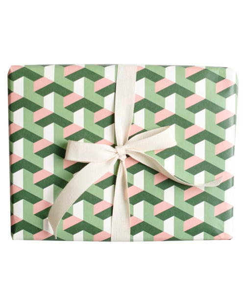Geometric Tile Gift Wrap