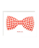 Gingham Bow Thanks