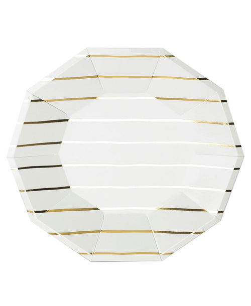 Frenchie Large Plates - Gold