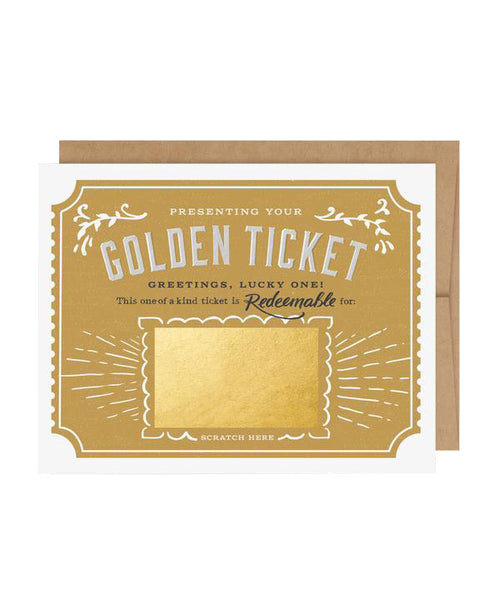Scratch-Off Golden Ticket