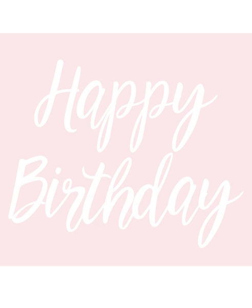 Happy Birthday Script Banner