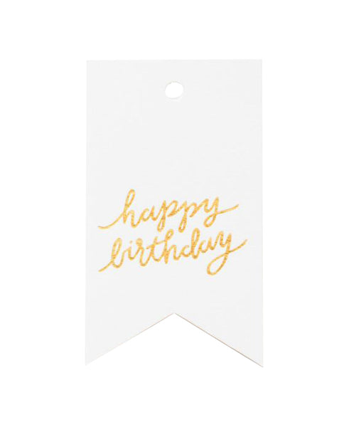 Happy Birthday Flag Tags