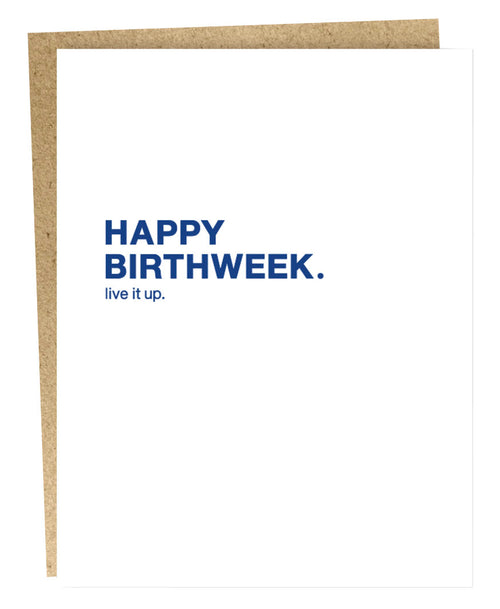 Happy Birthweek