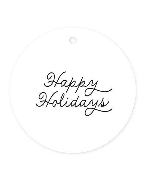 Exclusive Happy Holidays Gift Tags