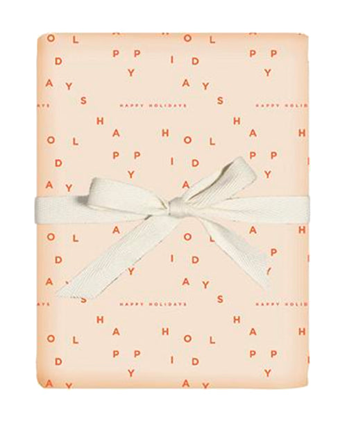 Happy Holidays Gift Wrap