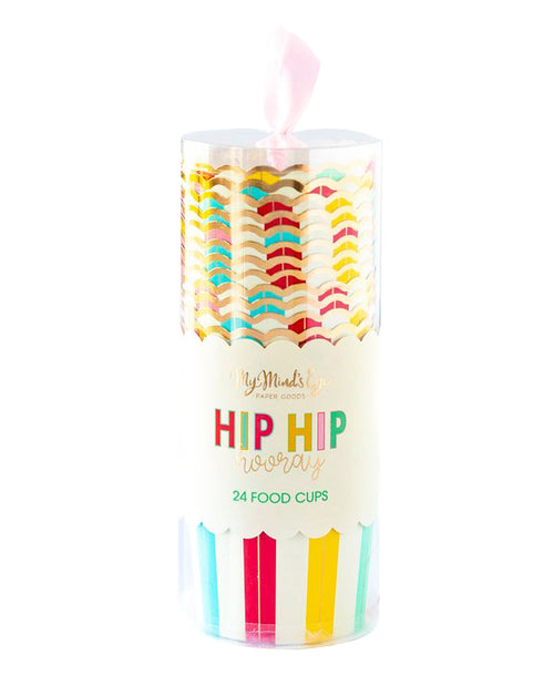 Hip Hip Hooray Food Cups