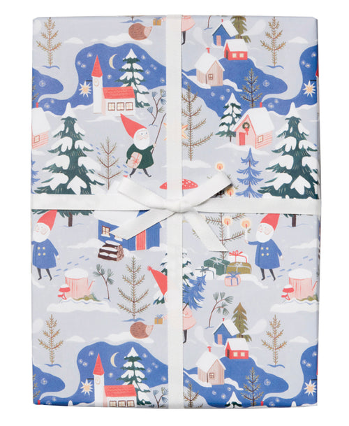 Holiday Gnomes Gift Wrap
