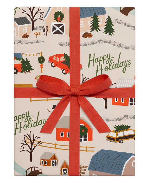 Holiday Tree Farm Gift Wrap