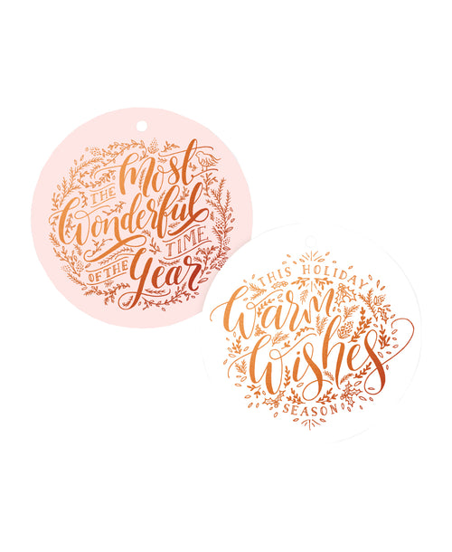 Holiday Copper Foil Tags