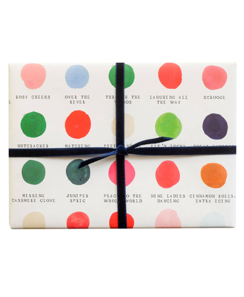 Holiday Color Palette Gift Wrap