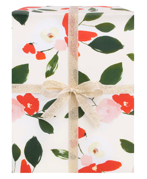 Holiday Florals Gift Wrap