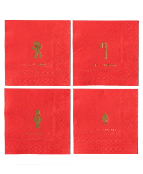 Red Holiday Napkins