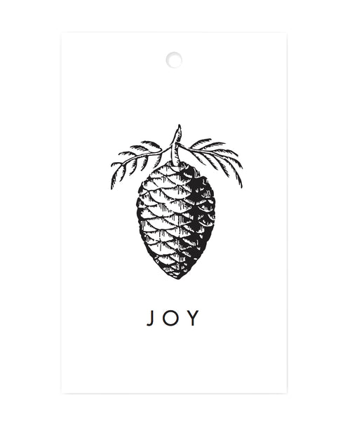 Exclusive Joy Pinecone Gift Tags