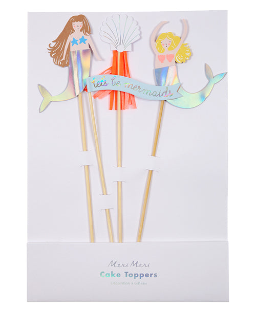 Let's Be Mermaids Cake Topper