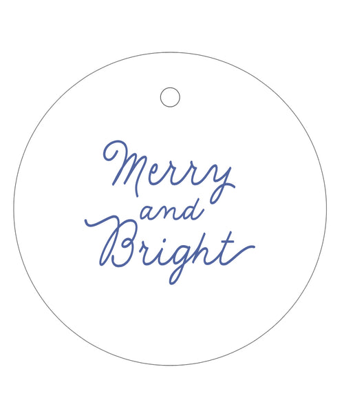 2020 Exclusive - Merry and Bright Gift Tags