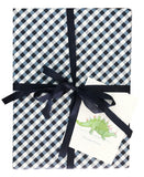 Navy Gingham Gift Wrap