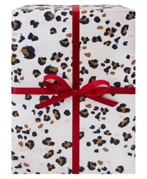 Navy Leopard Gift Wrap