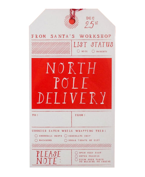 North Pole Delivery Tag