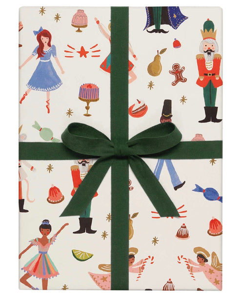 Nutcracker White Gift Wrap