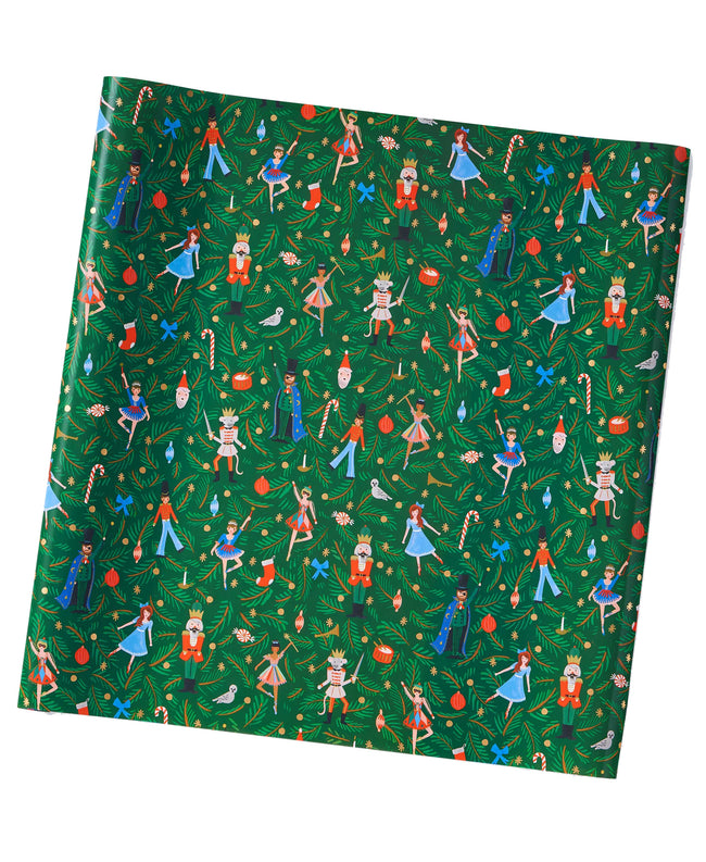 Nutcracker Green Gift Wrap