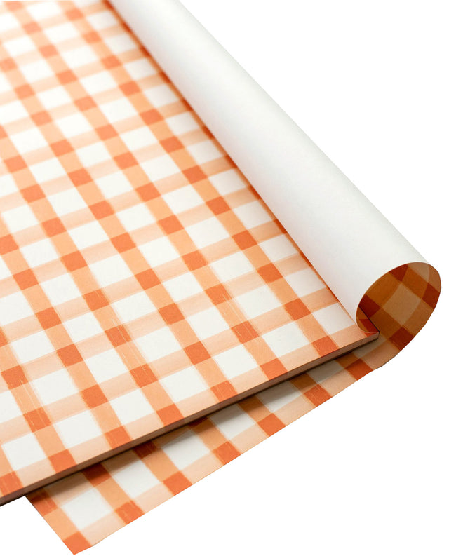 Orange Check Placemat