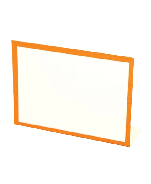 Frame Place Cards - Orange (Bottom Fold)