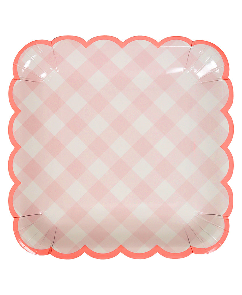 Gingham Plates - Pink  sc 1 st  The Paper-House Shop & Gingham Plates - Pink \u2013 The Paper House