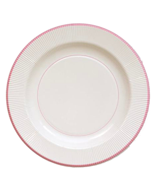 Classic Pink Righe Plates