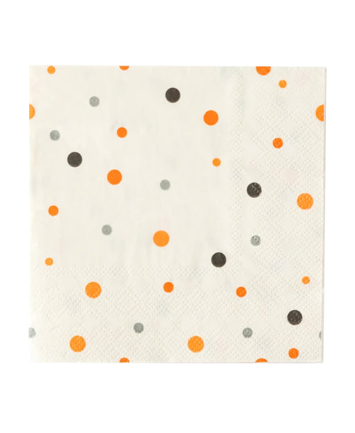 Polka Dot Halloween Napkins