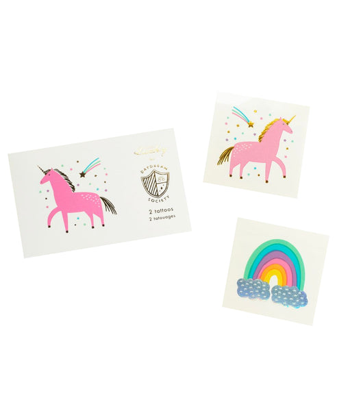 Unicorn + Rainbows Temporary Tattoos