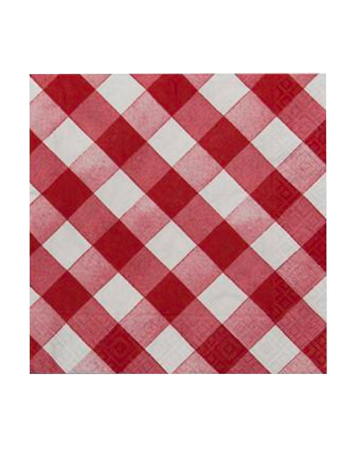 Red Check Napkins