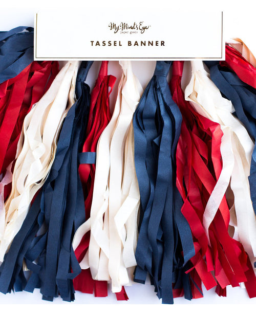 Red, White, & Blue Tassel Banner