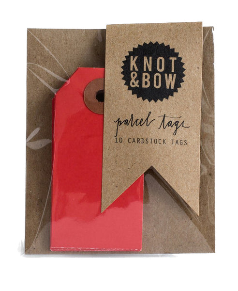 Parcel Tags - Red