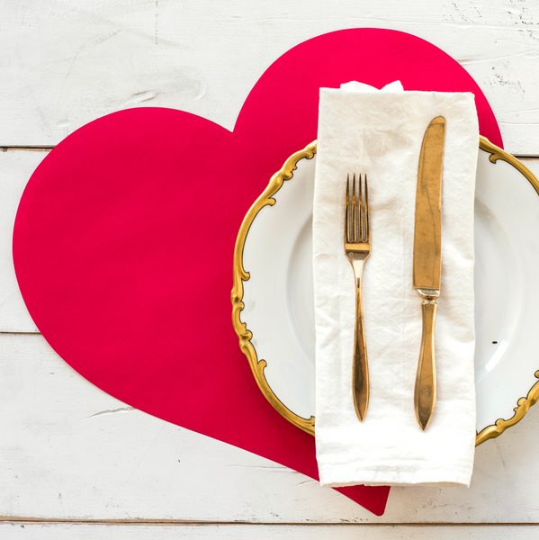 Die Cut Heart Placemat