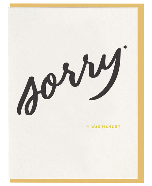 Sorry Hangry