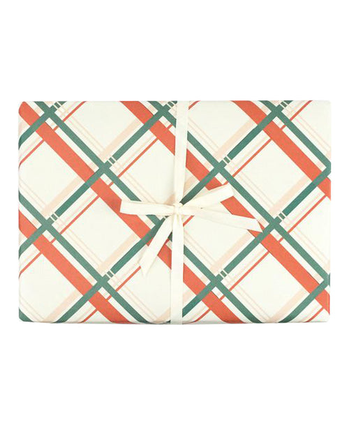Vintage Holiday Plaid Gift Wrap