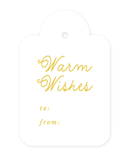 Exclusive Warm Wishes Gift Tags